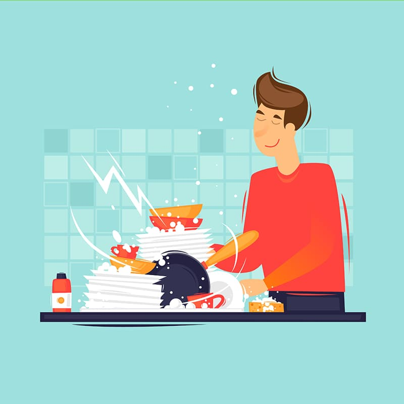 Science Story: #6 Wash dishes with your eyes closed