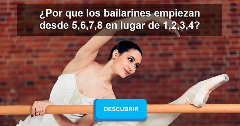 Cultura Historia: ¿Por que los bailarines empiezan desde 5,6,7,8 en lugar de 1,2,3,4?