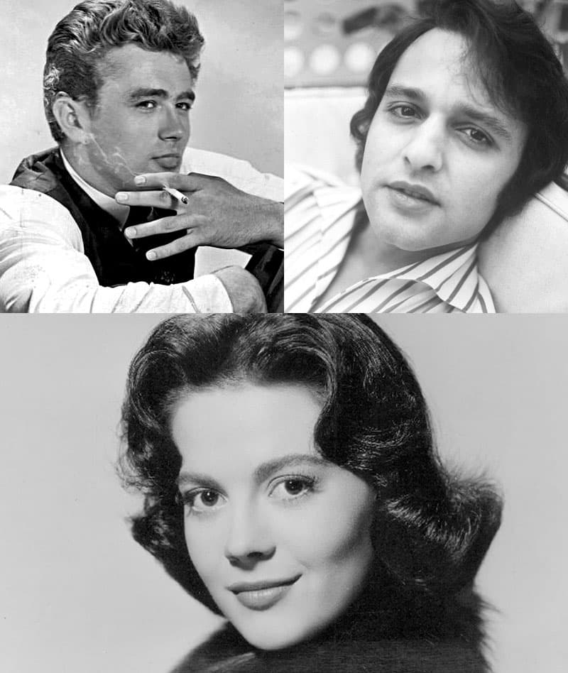"""History Story: #8 Natalie Wood, James Dean, and Sal Mineo were the main actors of """"Rebel Without a Cause"""". All of them died died young in a bad way: Wood drowned, Dean died in a car crash, Mineo was stabbed to death."""
