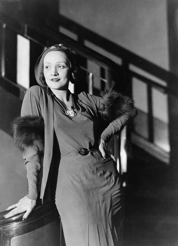 History Story: #9 Marlene Dietrich received the Presidential Medal of Freedom in 1947 for entertaining US troops during WWII. A German-born actress, she was a staunch opponent of Nazism.