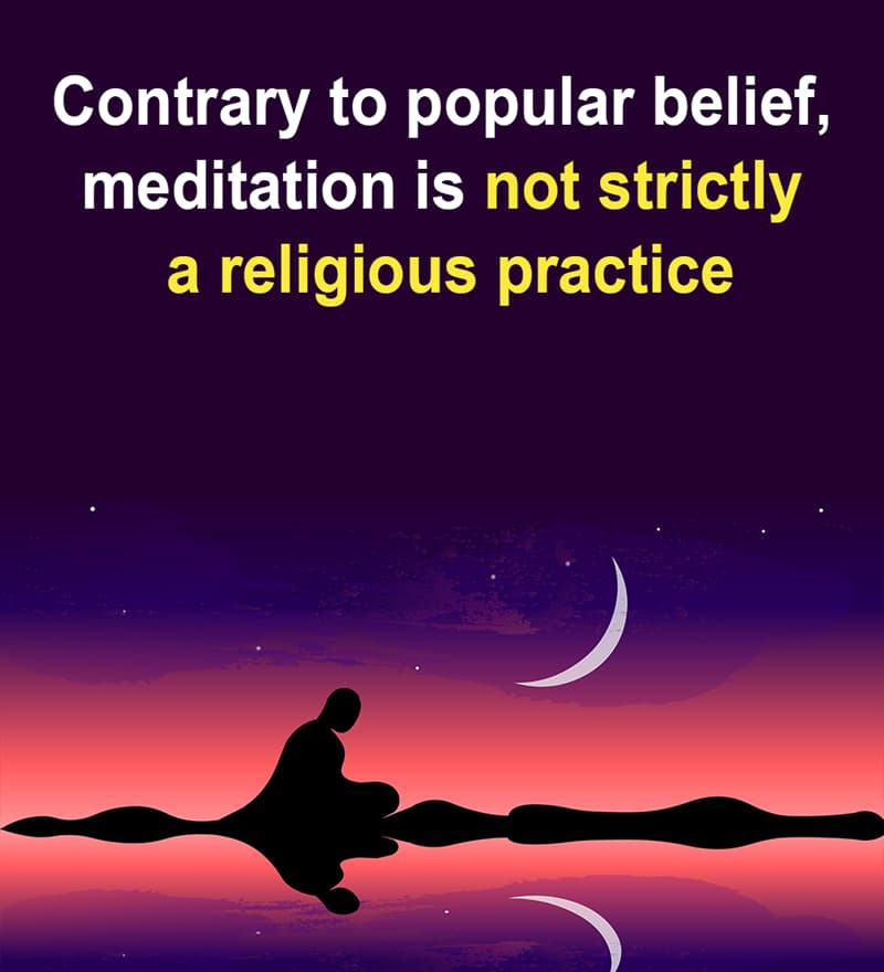 Science Story: Contrary to popular belief, meditation is not always a religious practice