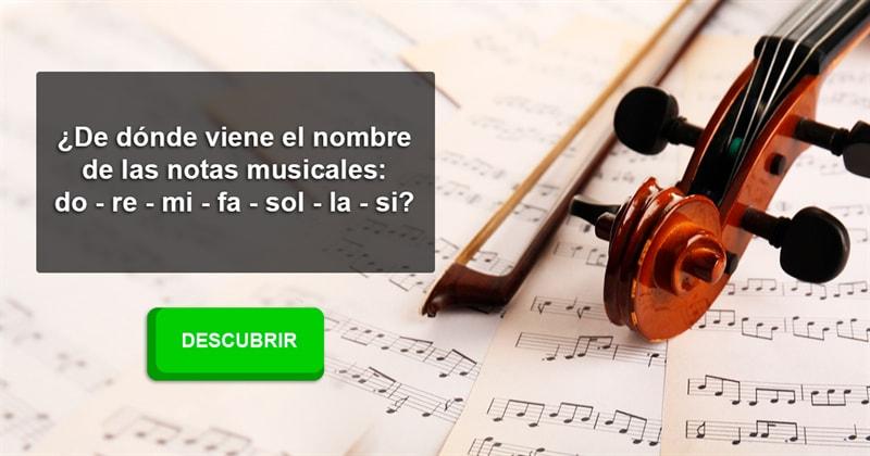 Historia Historia: ¿De dónde viene el nombre de las notas musicales: do - re - mi - fa - sol - la - si?