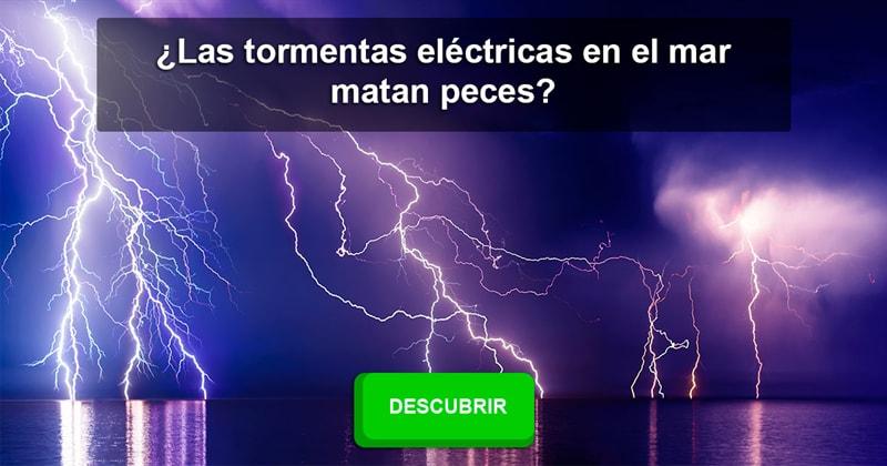 Сiencia Historia: ¿Las tormentas eléctricas en el mar matan peces?