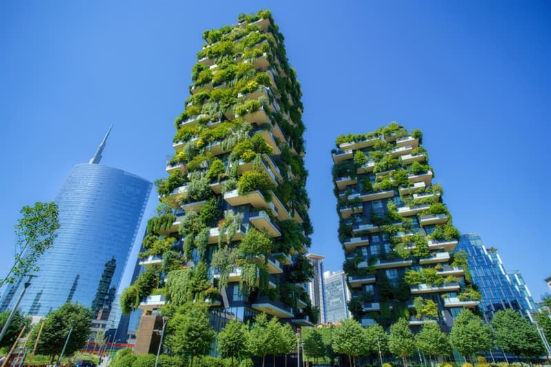 Geography Story: #10 The 256-foot and 344-foot-tall towers of Bosco Verticale, Milan