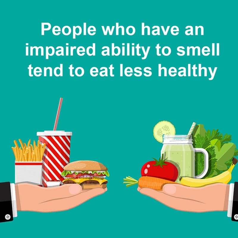 Science Story: People who have an impaired ability to smell tend to eat less healthy