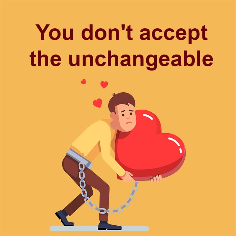Society Story: You don't accept the unchangeable