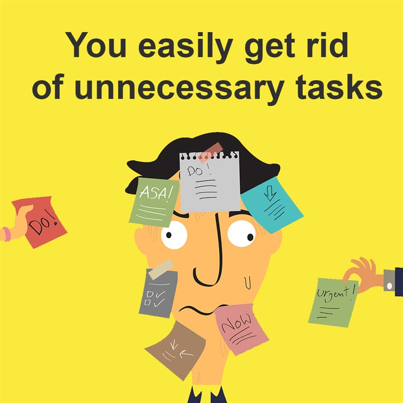 Science Story: You easily get rid of unnecessary tasks