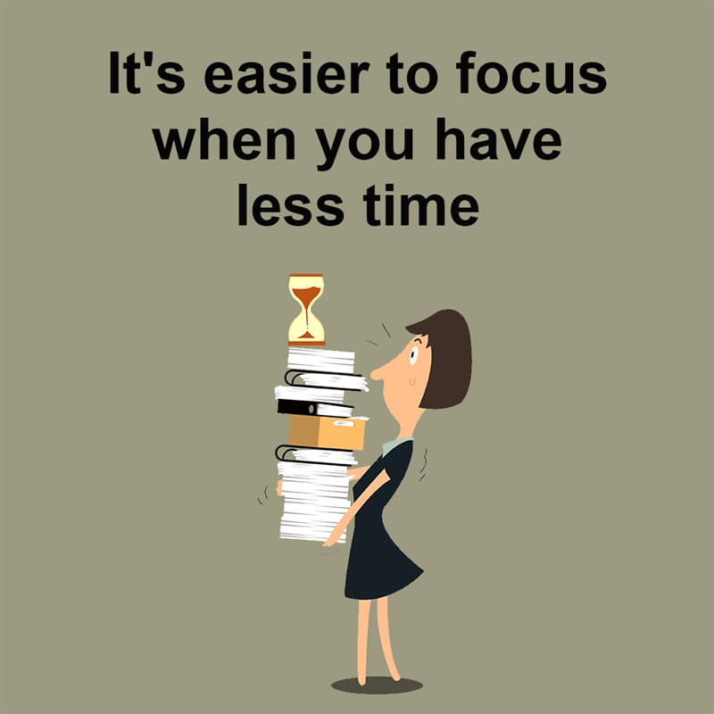 Science Story: It's easier to focus when you have less time