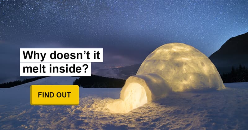 Culture Story: A warm house made of snow – how does an igloo work?