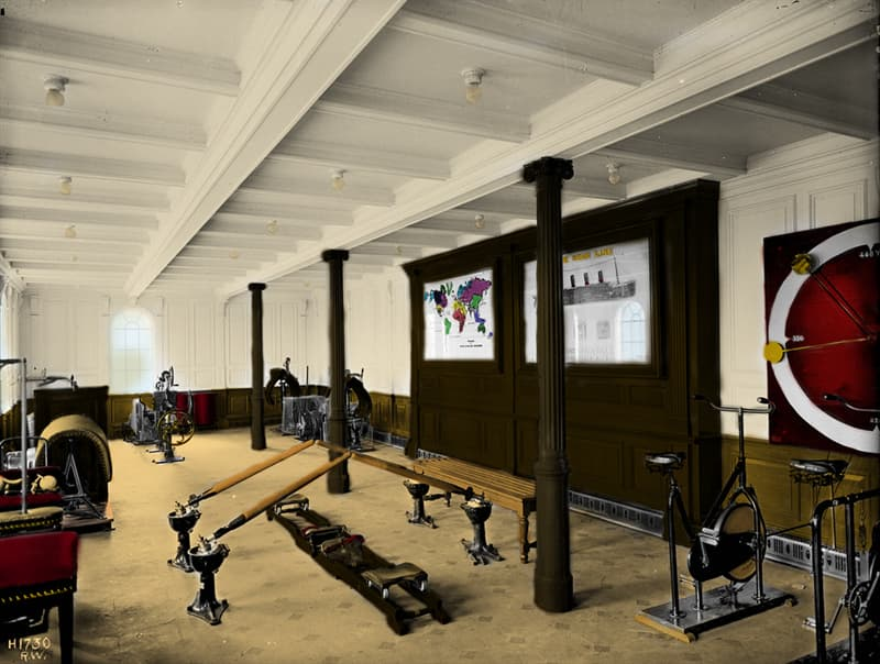 Culture Story: #7 Titanic's first class gymnasium, 1912