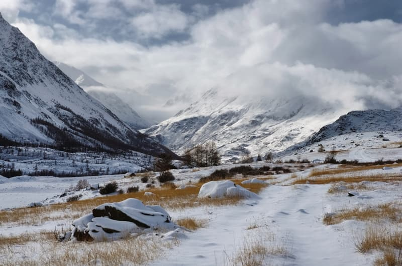 Geography Story: #9 Snowy foothills of the mountains