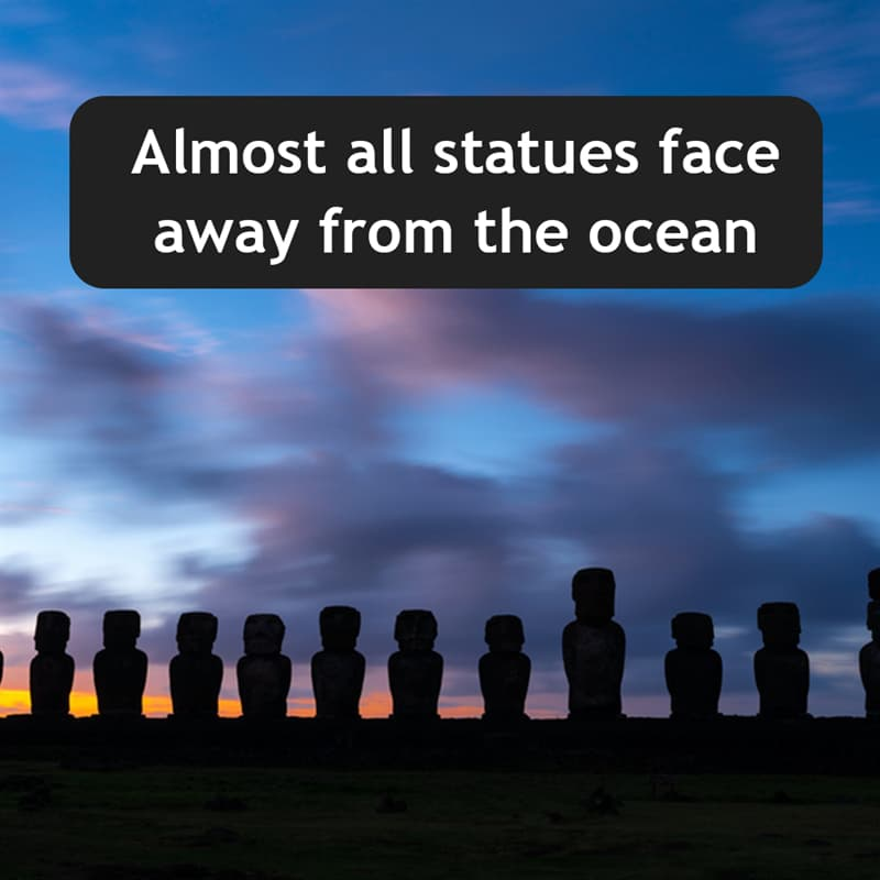 Geography Story: Almost all statues face away form the ocean