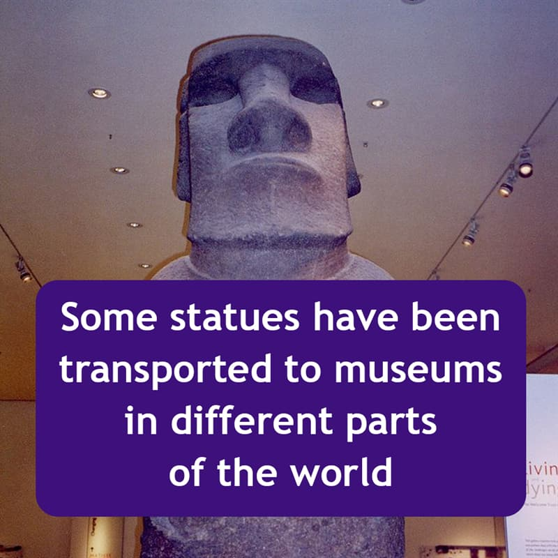 Geography Story: Some statues have been transported to museums in different parts of the world