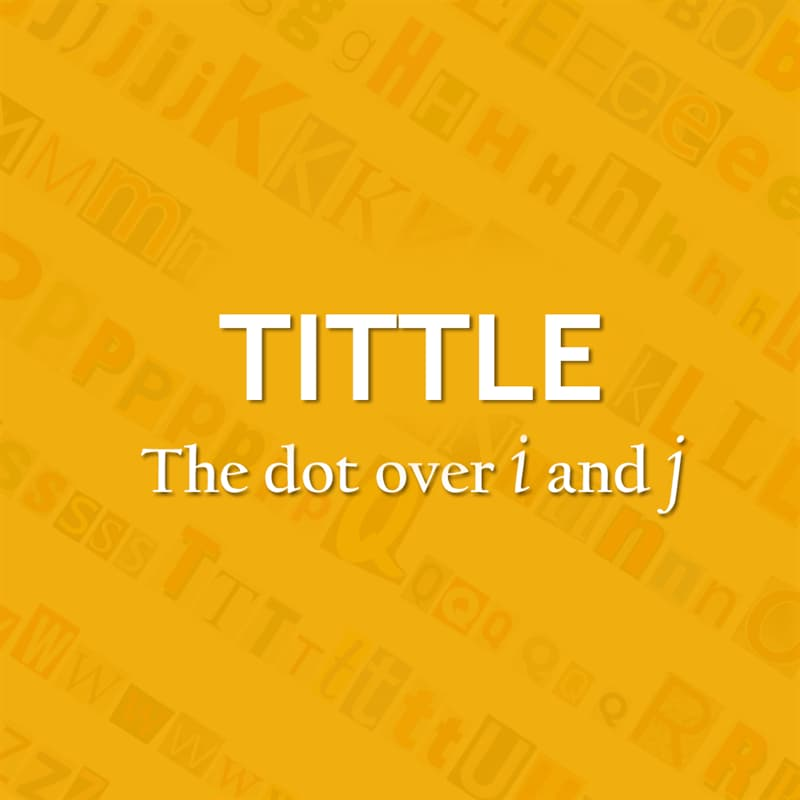 Culture Story: The dot over i and j - title