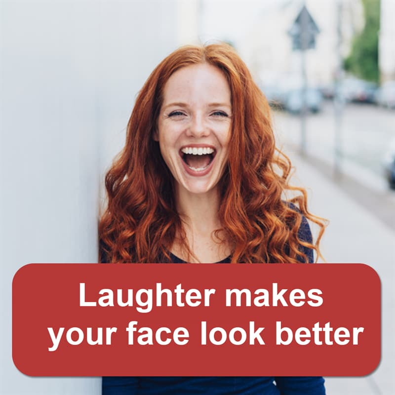 Science Story: Laughter makes your face look better
