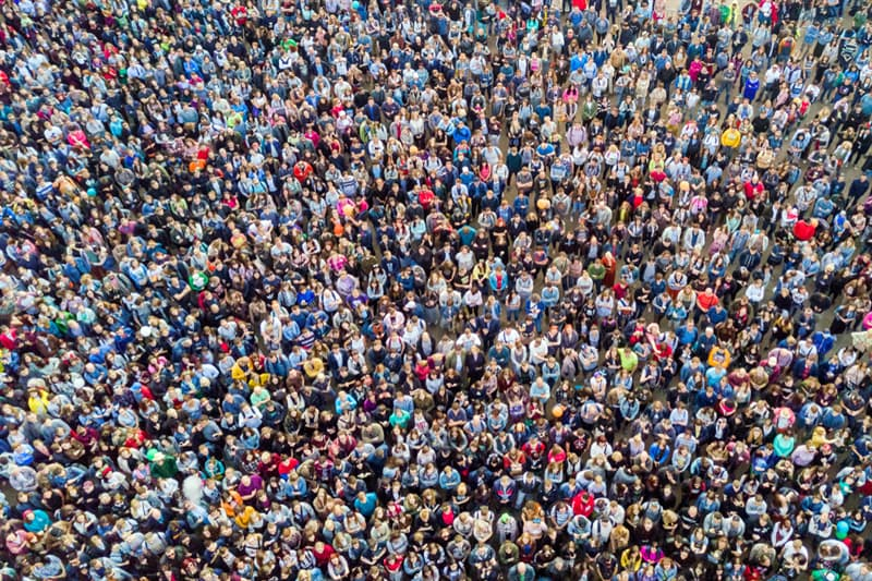 Geography Story: #14 Сrowd of people from above
