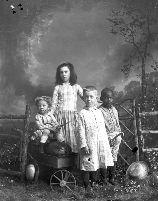 History Story: #13 Children in play clothes, between 1885 and 1910
