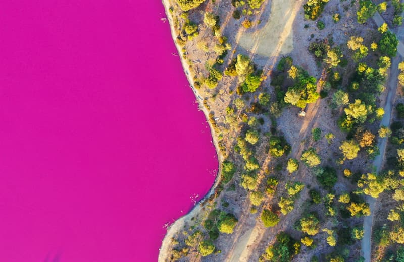 Geography Story: Pink lake in Melbourne