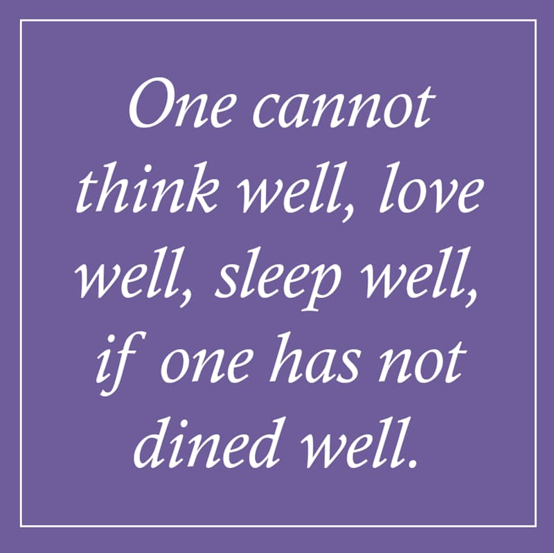 female Story: Virginia Woolf quotes about food