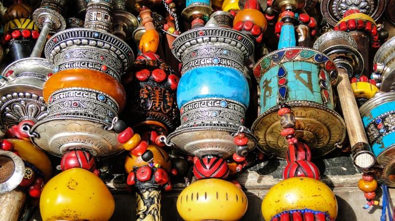 Geography Story: #13 Prayer wheels at the flea market