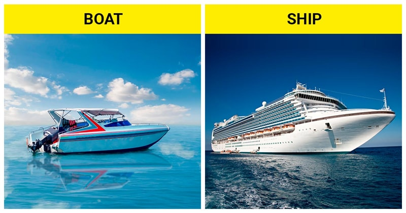 knowledge Story: The difference between a boat and a ship