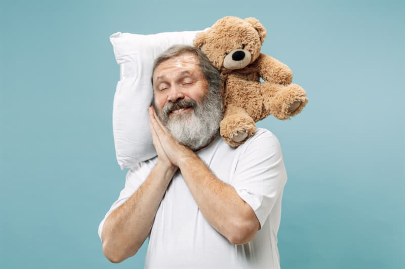 age Story: Get enough sleep old happi man trivia free quiz personality test anti aging how to look younger look younger