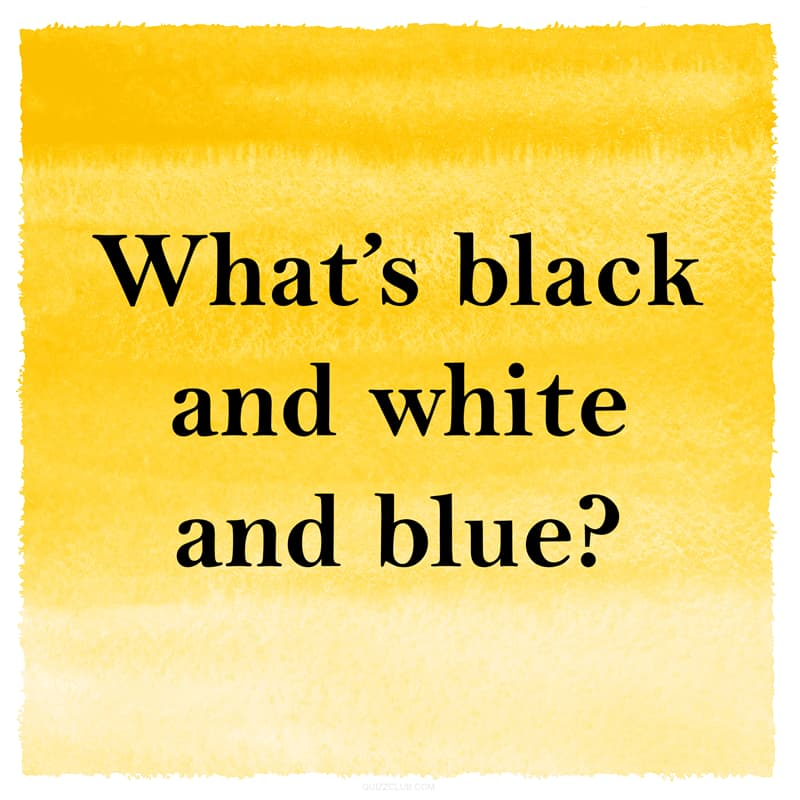 IQ Story: Funny riddle black and white and blue