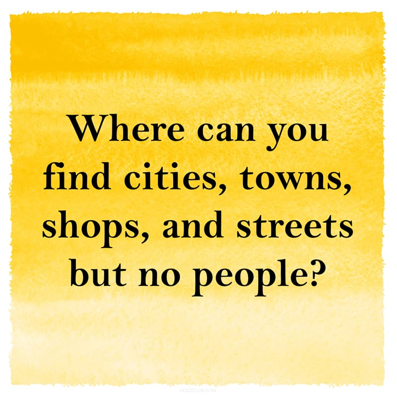 IQ Story: Hard riddle about cities, towns but no people