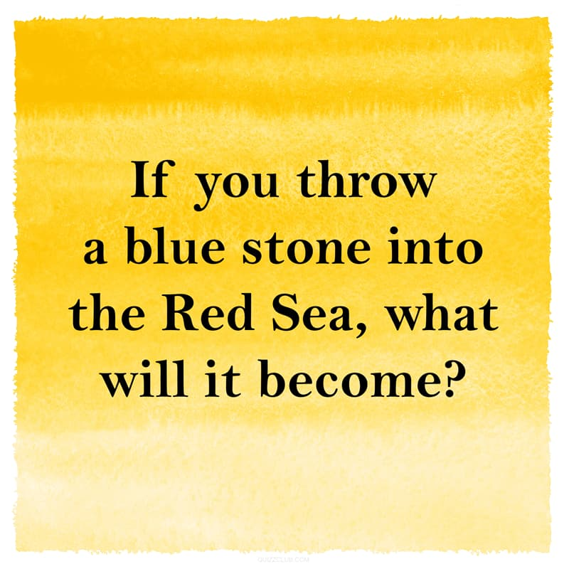 IQ Story: Funny riddle about blue stone and red sea