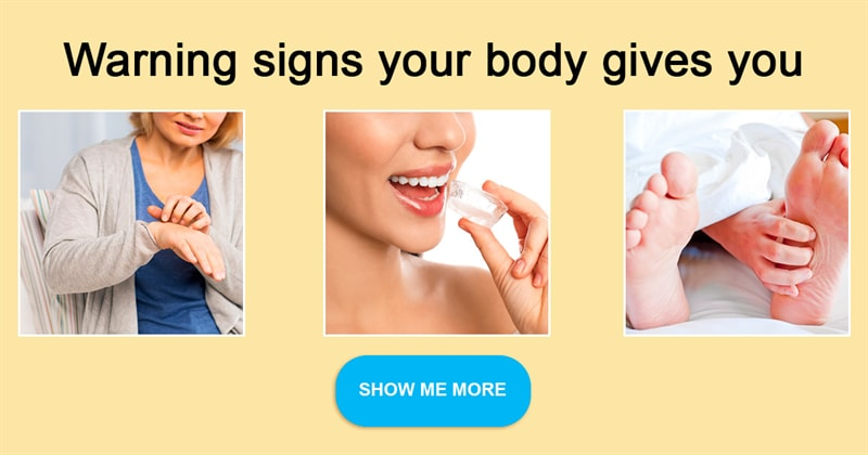 Society Story: Body signs you shouldn't ignore to be in good health