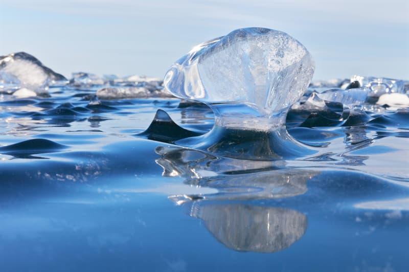 Geography Story: Frozen waves on Baikal lake