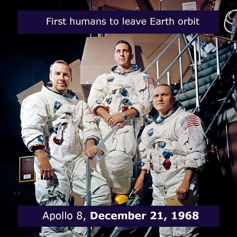 Science Story: Apollo 8 mission the first people to leave low Earth orbit