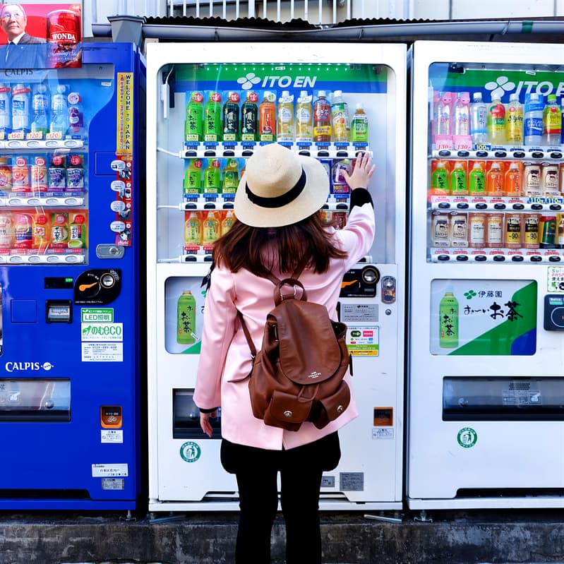 Geography Story: Vending machines in Japan