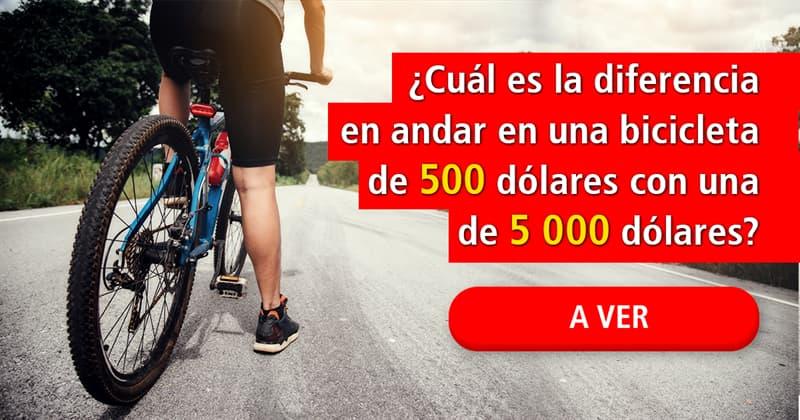 Deporte Historia: ¿Cuál es la diferencia en andar en una bicicleta de 500 dólares con una de 5 000 dólares?