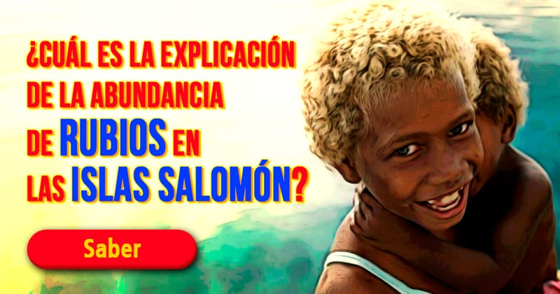 Geografía Historia: Genéticamente, ¿cuál es la explicación de la abundancia de rubios en las islas Salomón?