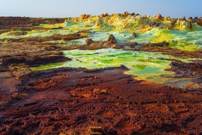 Geography Story: Danakil Depression landscape