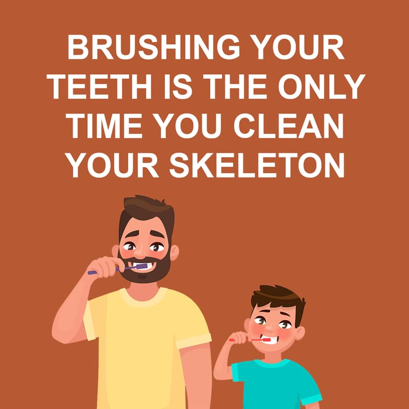 Society Story: Shower thoughts: brushing your teeth is the only time you clean your skeleton