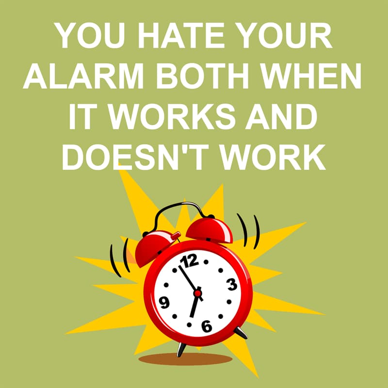 Society Story: Shower thoughts: you hate your alarm both when it works and doesn't work