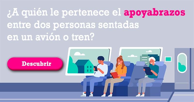 Cultura Historia: ¿A quién le pertenece el apoyabrazos entre dos personas sentadas en un avión o tren?