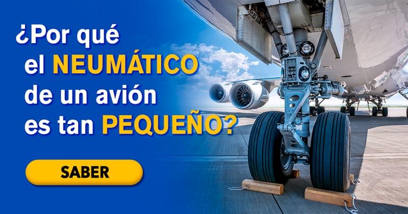 Сiencia Historia: ¿Por qué el neumático de un avión es tan pequeño en comparación con el tamaño del avión?