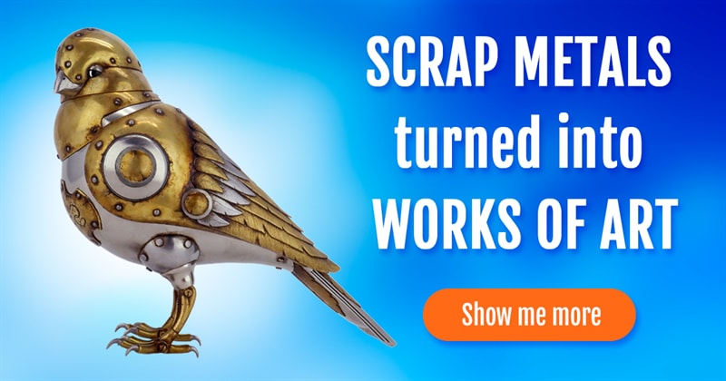 animals Story: Amazing steampunk art: a new life of recycled materials