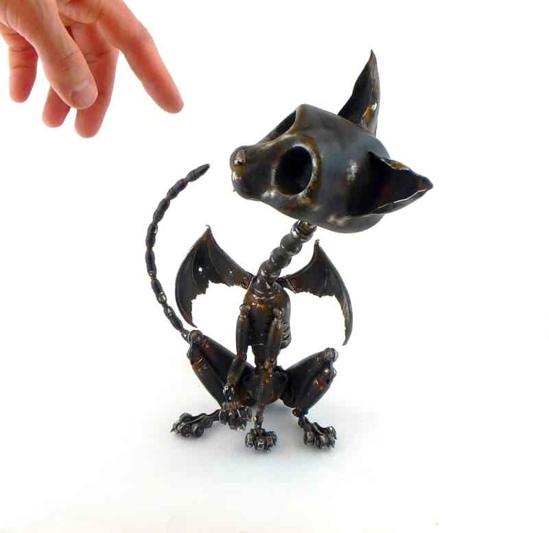 animals Story: steampunk animal sculptures - steampunk artwork - steampunk cat