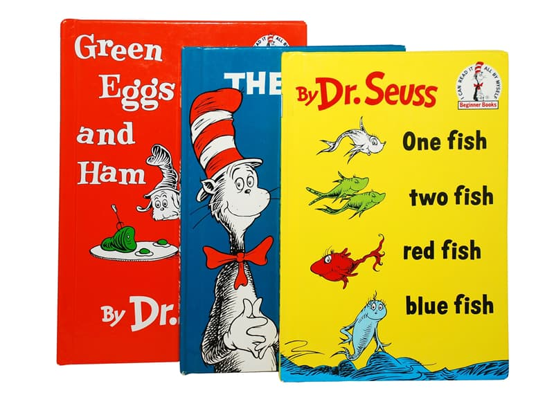 Culture Story: Book Green Eggs and Ham Dr. Seuss Theodor Seuss Geisel biography interesting facts for children kids cat in the hat