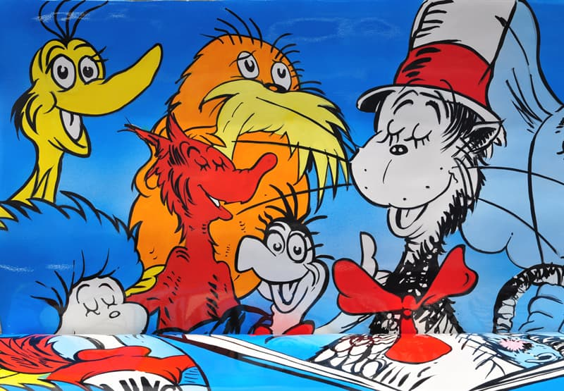 Culture Story: Dr. Seuss Theodor Seuss Geisel biography interesting facts for children kids cat in the hat Major Characters And to Think That I Saw It on Mulberry Street