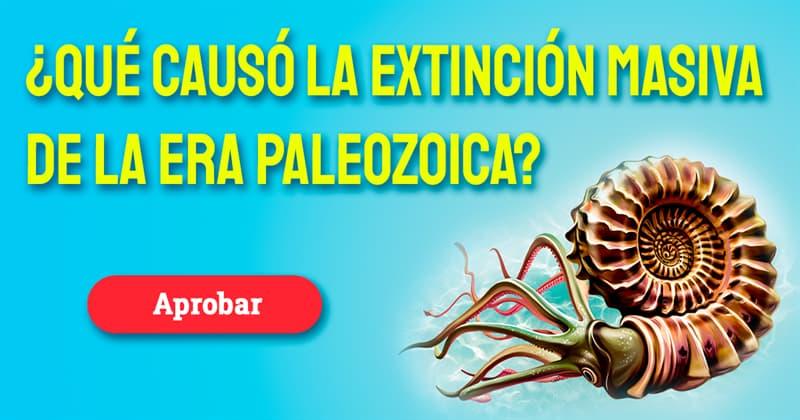 Geografía Historia: ¿Qué causó la extinción masiva de la era paleozoica?
