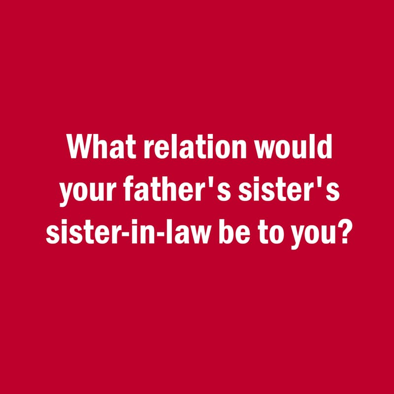 IQ Story: Hard riddle what relation your father's sister's sister-in-law
