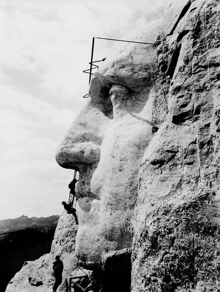 Culture Story: The biggest nose George Washington construction of Mount Rushmore Black Hills Keystone South Dakota