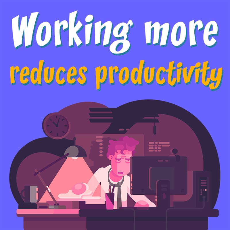Personality Story: workplace facts - working long hours - stress at work