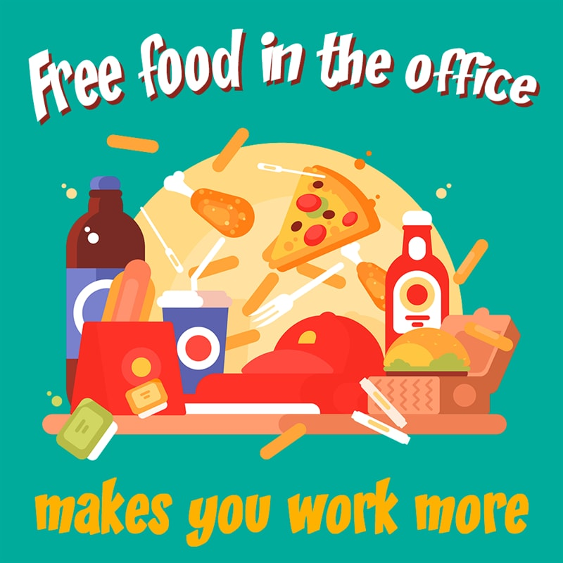 Personality Story: Free food in the office - stress at work - workplace facts
