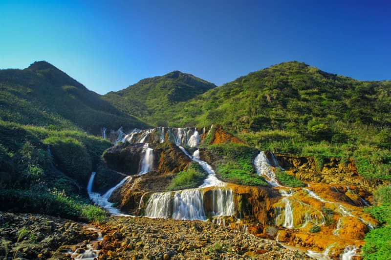Geography Story: Golden Waterfall, Taiwan facts about waterfalls most beautiful waterfalls in the world